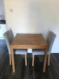 Solid Oak 80cm Dining Set