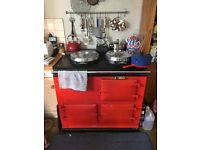 Red electric 2oven Aga