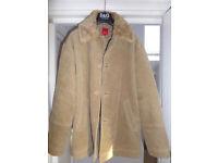 Esprit Mens Warm Sheepskin Style Coat (Size L)
