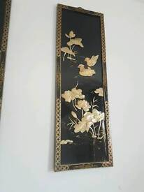 Chinese Black Lacquer Mother of peral wall hangings
