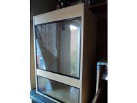 vivarium.3ft hi x 2ft wide 18inch deep. glass front.