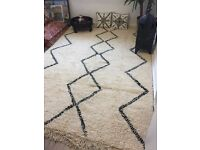 Hand made Moroccan Beni Ourain rug
