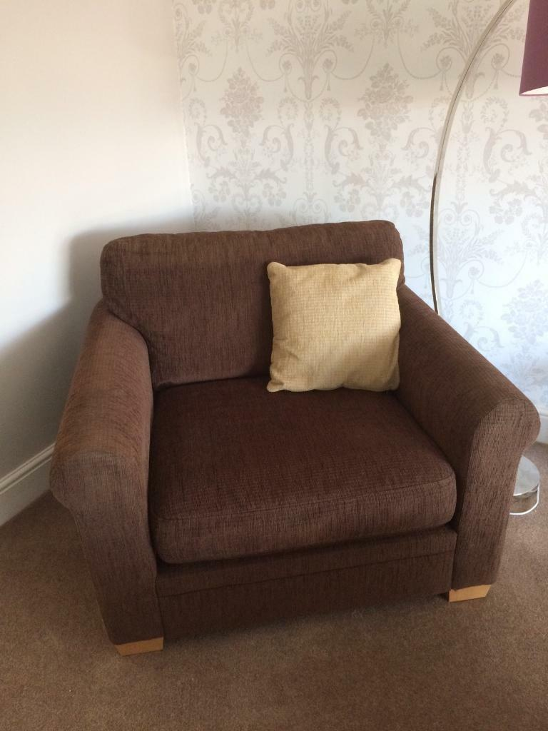 Furniture Village Brighton two armchairs and a footstool from furniture village | in liphook