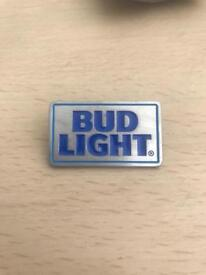 Bud Light pin badges