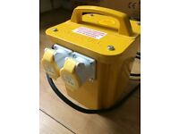 Faithfull Transformer 110v Dual Outlet ,2 x 16 Amp Outlets 3.3 kVA Twin Socket,Brand New