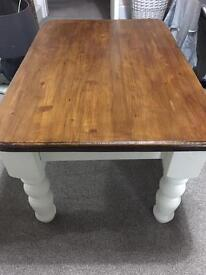 Walnut and white coffee table