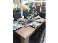 Dining Table & Chairs (sun damage)