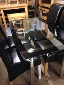 Glass dining table £100