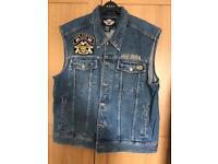 Harley Davidson Short Sleeved Jeans Jacket