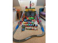 Massive Thomas the tank engine set with extra track, trains and minis!!