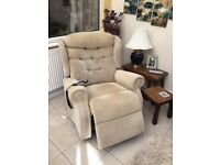 """Celebrity """"Woburn"""" high rise , recliner chair extra width in corn colour"""