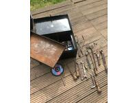 Old kist chest tool kit