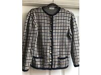 Chequered Vintage Cardigan Size 12/14