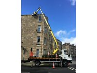 CHERRY PICKER HIRE 22 METRE HIGH PAINTERS GUTTERS PROPERTY MAINTENANCE
