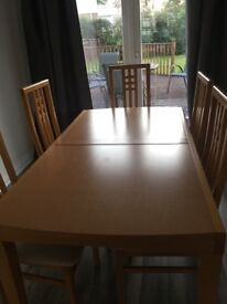 Extenable Dining Table & 6 Chairs