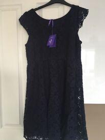 Maternity Dress - Seraphine Blue Lace - Size 14