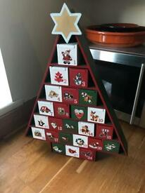 Christmas wooden advent calendar ***REDUCED PRICE***