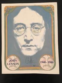 Limited edition John Lennon print.