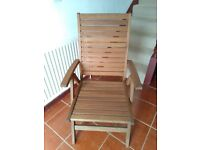 Teak garden chairs x7 and free table