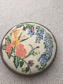 Victorian tapestry footstool