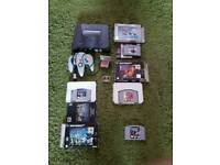 Nintendo n64 with 4 games