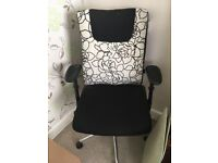 Office/computer chair black/swirl pattern pure comfort