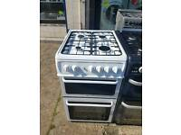 HOTPOINT 50CM WIDE DOUBLE OVEN GAS COOKER
