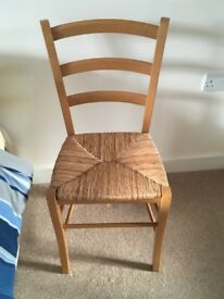 Wicker chair £5