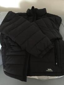 Trespass black downfilled jacket