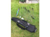 Full set of Regal Golf Clubs includes bag, balls , tees and umbrella