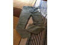 "Men's River Islands Acid Blue Skinny Jeans Size waist 34"" 30 (short) Leg"