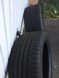 X2 Bridgestone Tyres 255/50/19 Good Condition