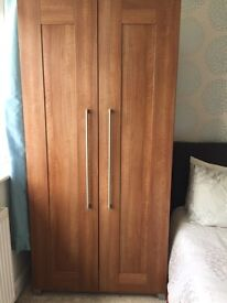 2 double wardrobe with matching 4 drawer chest