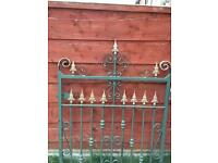 Iron railings and gate