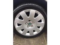 Scoda /vw/Audi alloys 17 inch new tyres