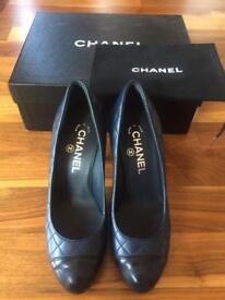 Brand new, Genuine Chanel classic quilt leather platforms, Euro 36.5, UK 4