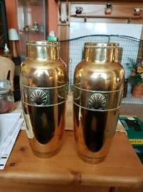 WMF - Large Art Nouveau Brass vase