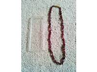 Nigerian Rubinite Gem Stone Necklace . £8.00.