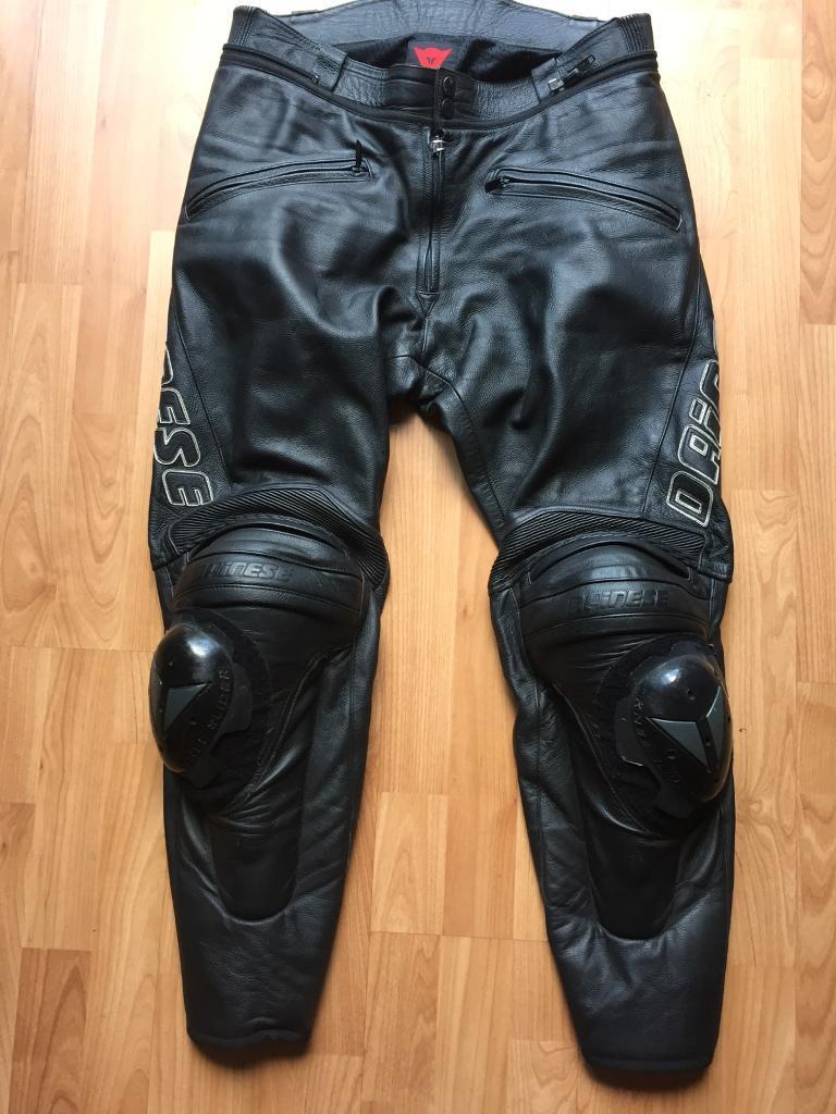 Dainese Leather Motorcycle Trousers 52in Lenton, NottinghamshireGumtree - Used but in great condition. Leather is bright and flexible. Knee protection. Knee sliders have never touched the ground but some light marks.Hip protection. Zip along waist for connecting to jackets. Delivery can be arranged at buyers expense.Offers...