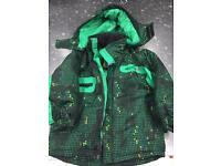 Boy 3-4 year old ski jacket, sallopettes and gloves
