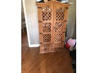 Bar style cupboard and table and chairs
