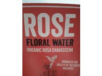 Organic Bulgarian rose water just under 2 litres