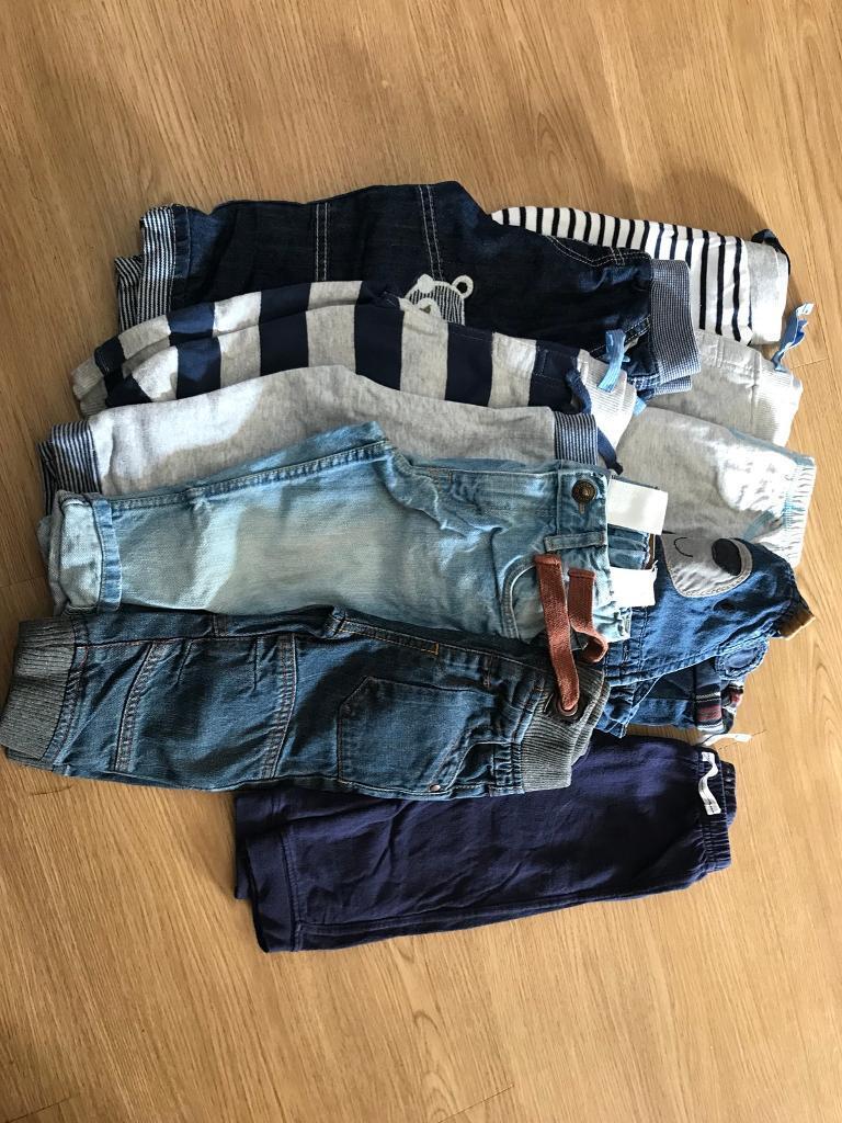 Bundle of boy trousers 9-12 months