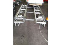 Transit high top roof rack and cabinets