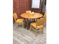 Vintage gateleg dining table & 4 chairs, bargain can deliver