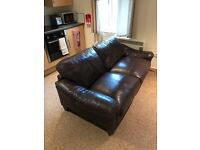 Leather Sofa (brown 2 seater)