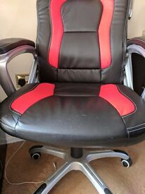 Red and black racing desk chair
