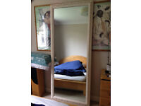 Gorgeous large mirror with a white frame. 2.1 metres tall, 90 cms wide. In excellent condition.