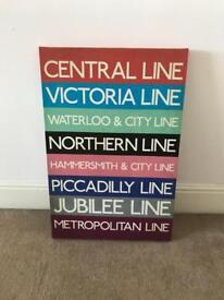 Next London Underground canvas