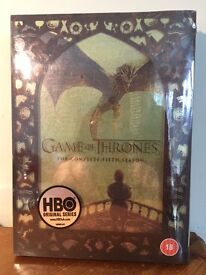 Game of Thrones complete fifth season DVD box set (unopened)